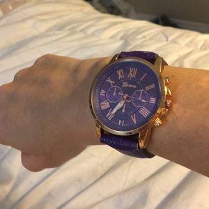 purp&Gold Woman's Geneva Watch